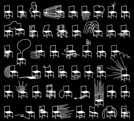 Nendo – 50 Manga Chairs @ Milan Design Week 2016