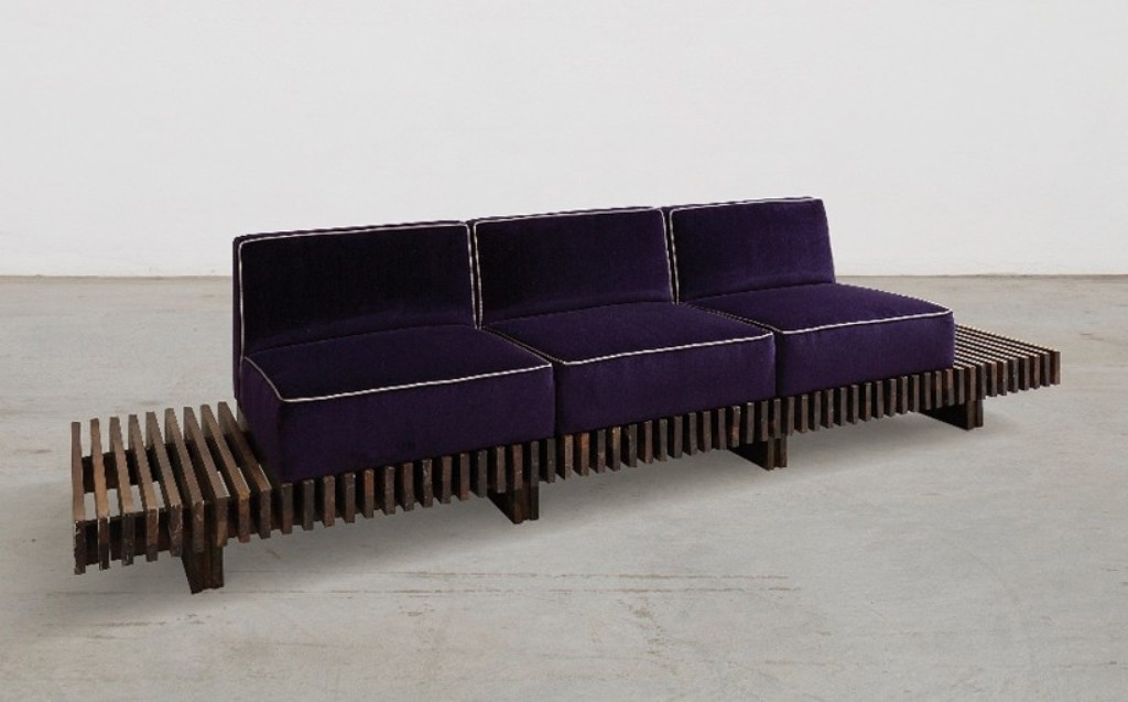 sofa' by joaquim tenreiro, 1954