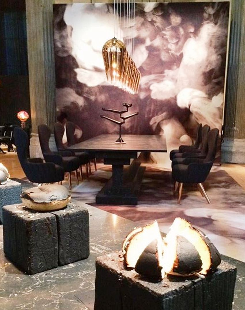 the restaurant tom dixon fire milan