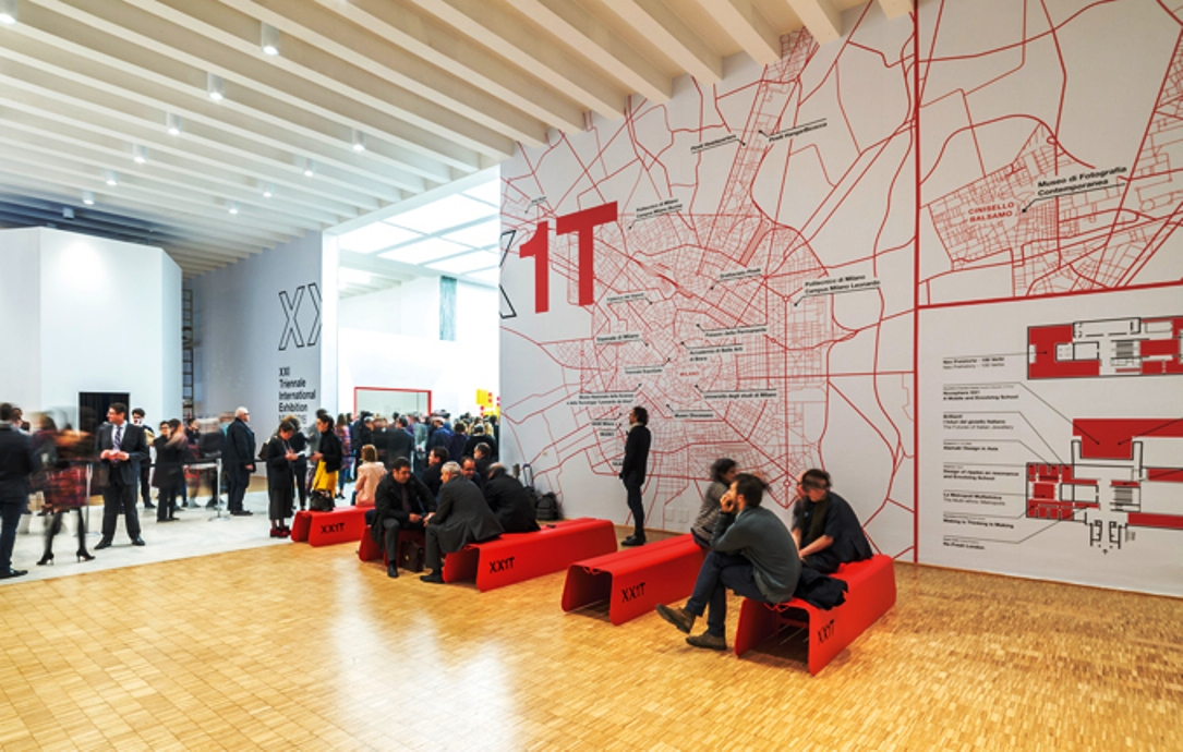 Map of all the Triennale events held around Milna in 2016