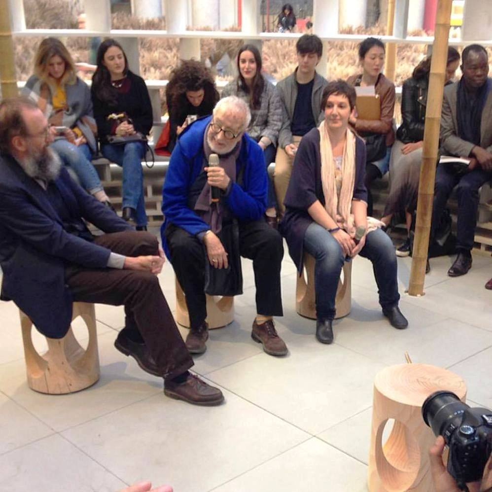 talk with De Lucchi & Branzi about CAOS, their exhibit at Palazzo Litta