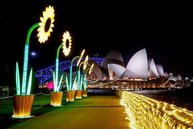 Botanical Gardens Walk of Light @ Vivid Sydney 2017
