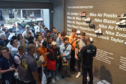 "Virgil Abloh Signing Nike ""Top Ten"" Kicks @ Dedece Sydney"