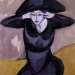 1911 woman in a hat by ernst-ludwig-kirchners
