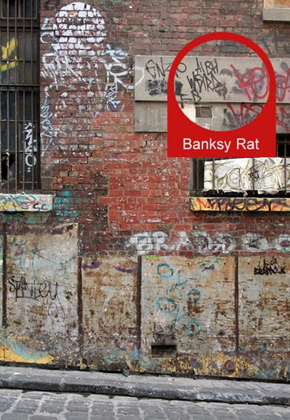 banksy rat before painting