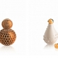 Werner Aisslinger's design resembles a stylised pine cone, with hexagons interlocking around the bottle