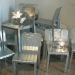 stamp chairs piling up