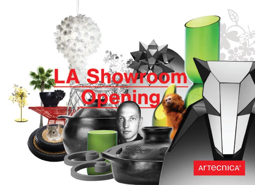 LA showroom post card