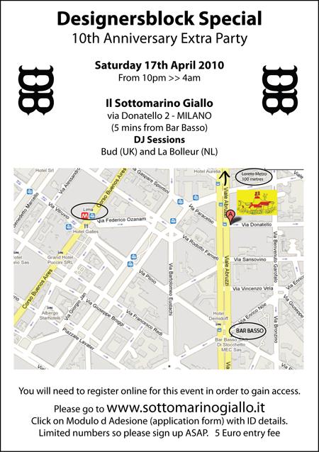 Salone Milan 2010 – DesignersBlock extra party