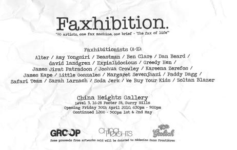 Upcoming Event – Faxhibition Sydney