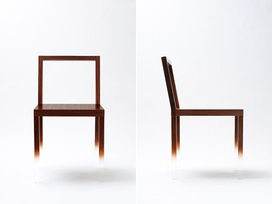 The Fading chair – by Nendo