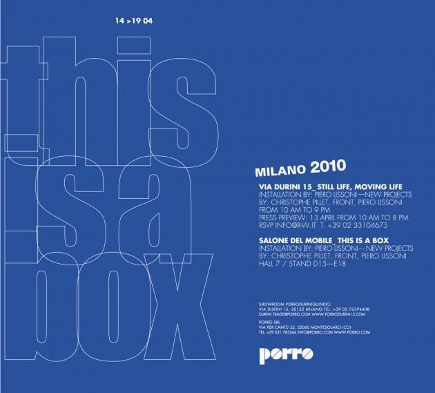 "Salone Milan 2010 – Porro does ""colour in a box"""