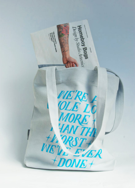 Homeboy tote bags from Artecnica