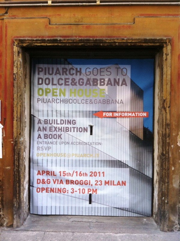 PiuArch goes to Dolce & Gabbana @ Milan Design Week 2011