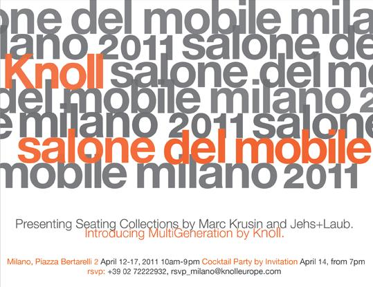 Knoll @ Milan Design Week 2011