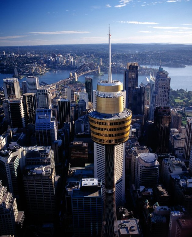 "Sydney Tower gets ""re-badged""."