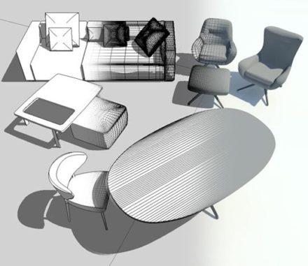Minotti 3D modelling – Revit files