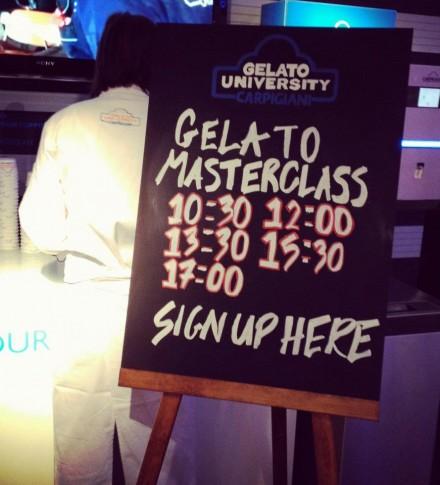 Gelato Master Class at MOST @ Salone Milan 2012