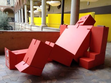 Giant Cubebot at MOST @ Salone Milan 2012