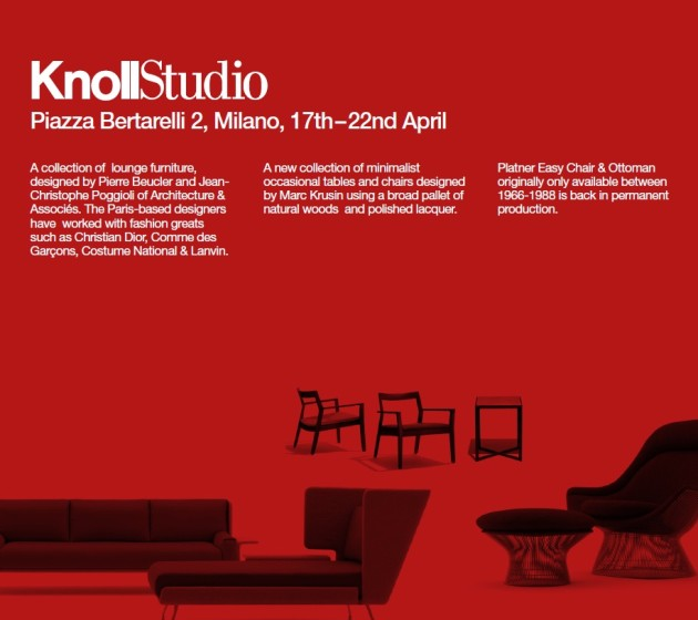Knoll International @ Salone Milan 2012
