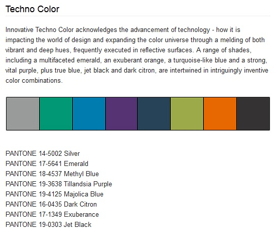 Pantone Interiors – 2014 colour trends
