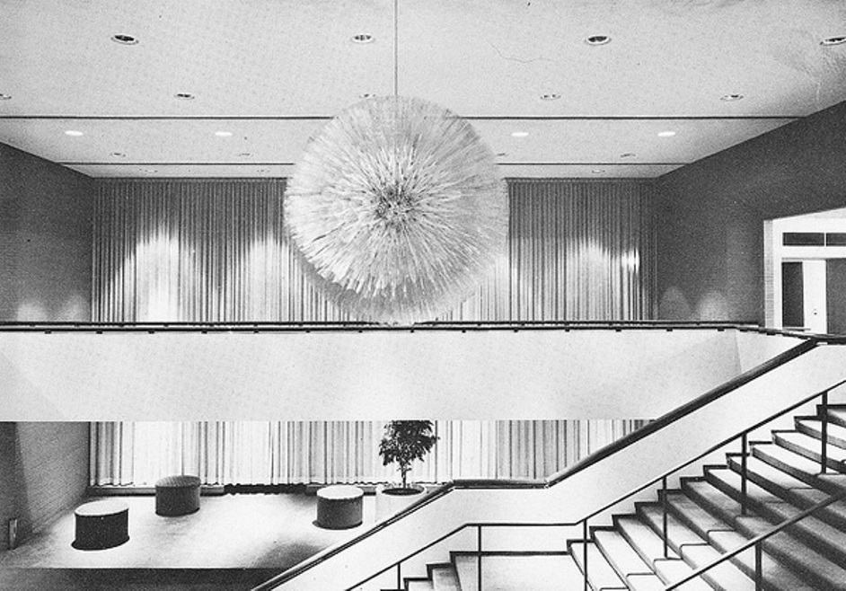 Dandelion sculpture at the Whiting Auditorium in Flint, Michigan, 1950s
