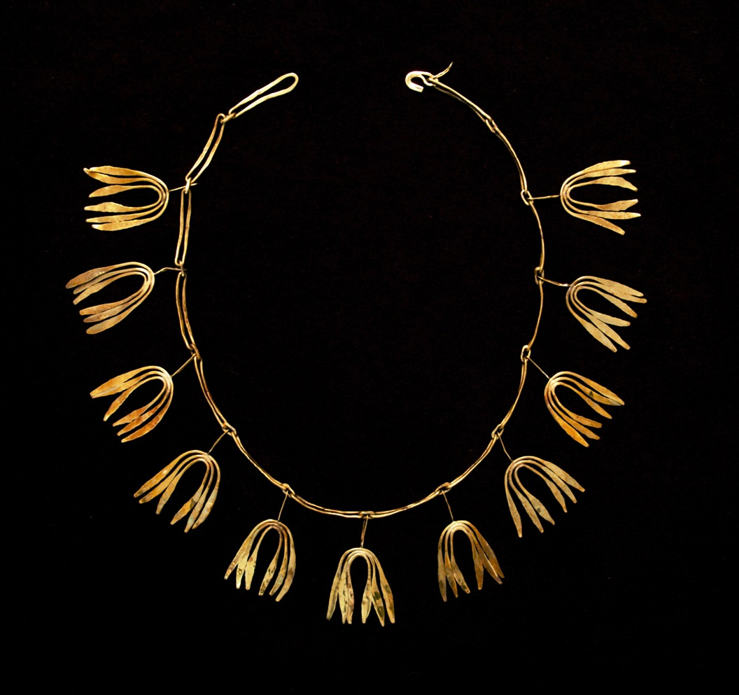 This Necklace was made by Bertoia as a gift for Eliel Saarinen's wife, Loja while Saarinen was president of the Cranbrook Academy of Art.