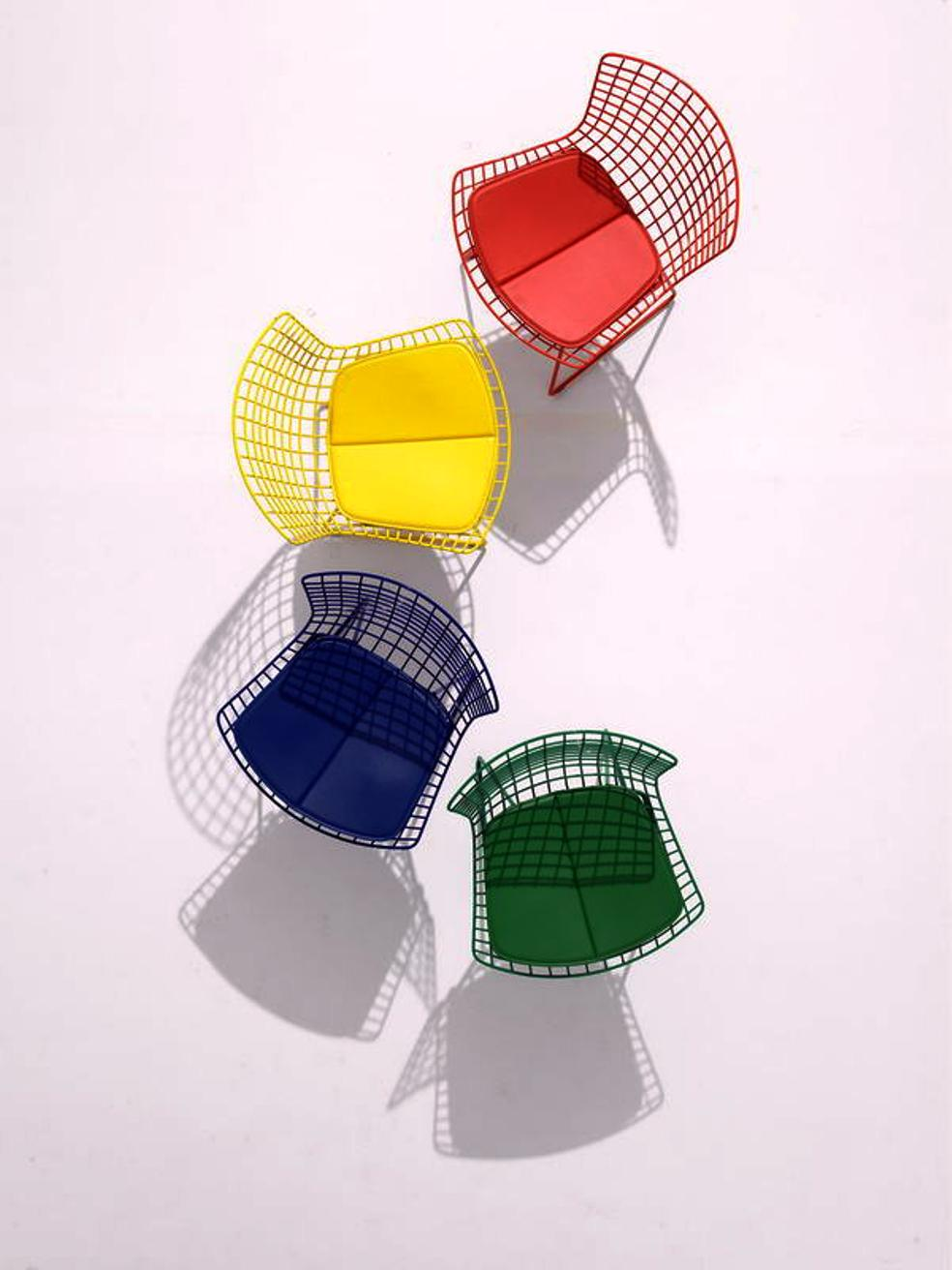 bertoia chairs colours