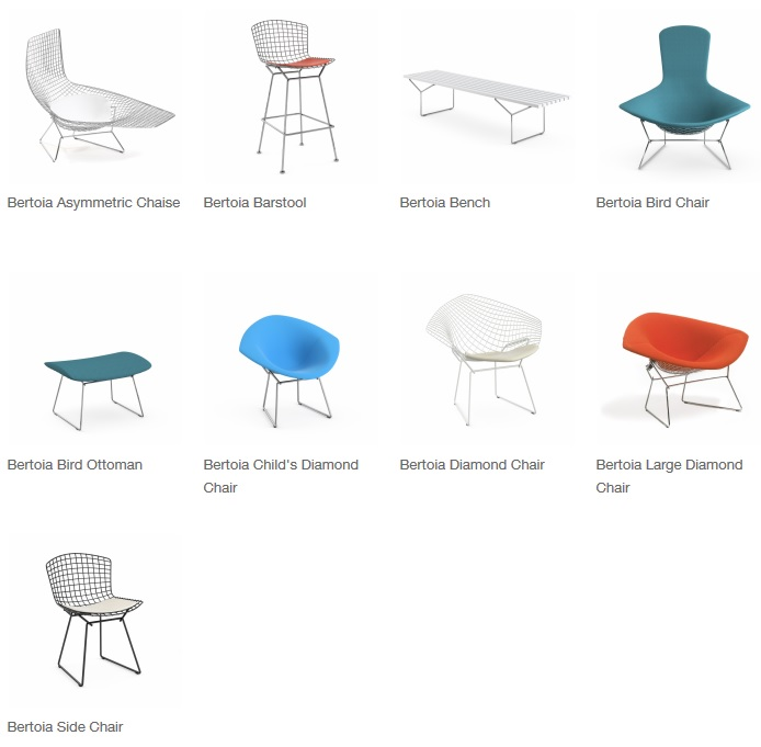 bertoia products for knoll