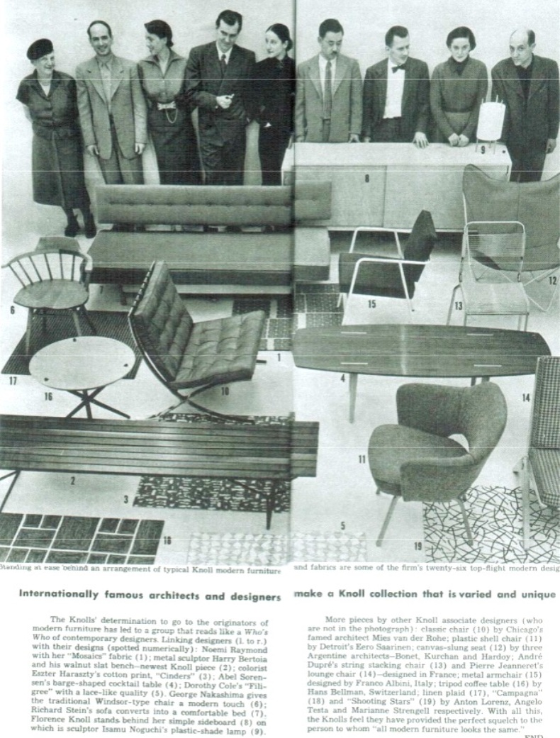 knoll designers and products