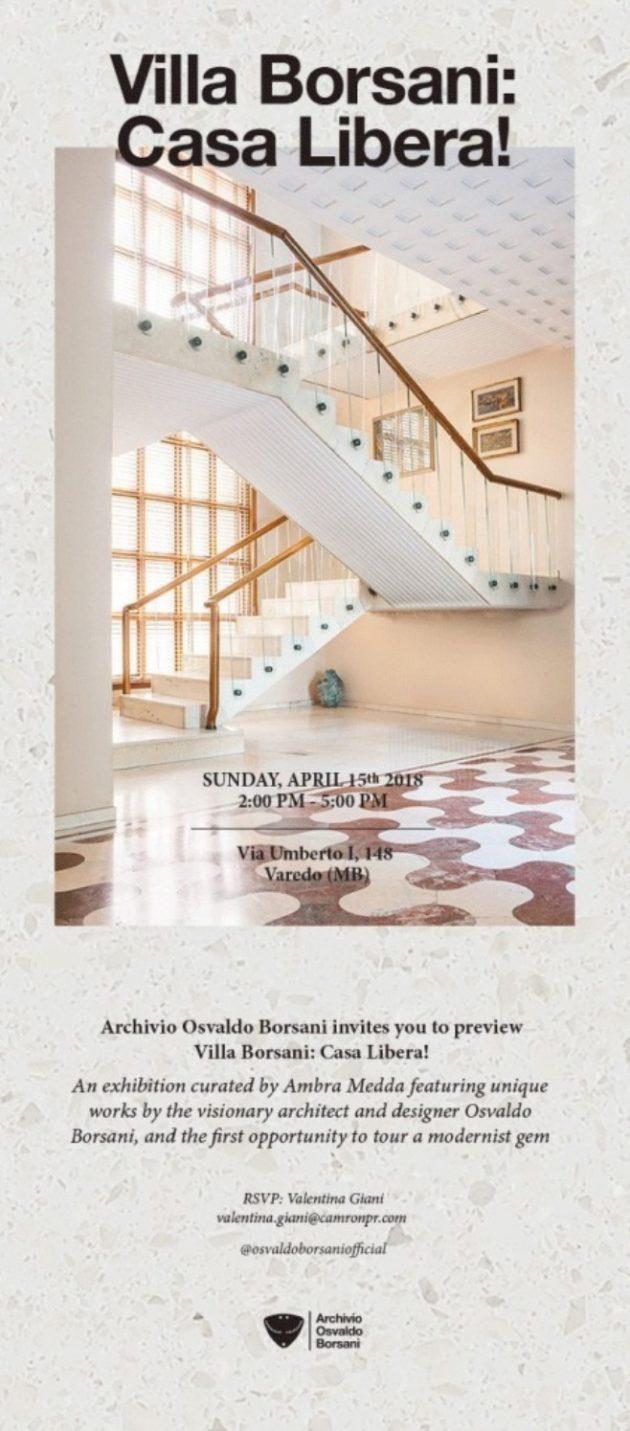 Villa Borsani : Casa Libera! @ Salone Milan 2018
