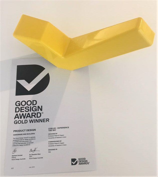 CoeLux wins Gold @ 2019 Good Design Awards