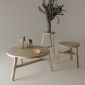 Offcut Natural Coffee Table, Stool 650mm and Side Table