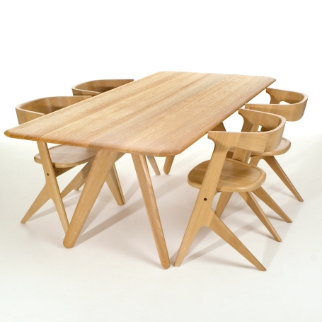 slab dining table and chairs