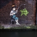 banksy fisher boy 19th sept, 2009