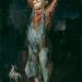 1947 boy with a dog