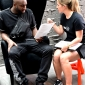 virgil abloh in tom dixon wingback chairs at dedece sydney (1)