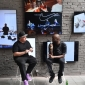 Simon ( Woody ) Wood from Sneaker Freaker Magazine interviewing Virgil Abloh for Supply and Nike Inc at dedece sydney 2017 (1)