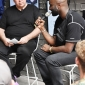 Simon ( Woody ) Wood from Sneaker Freaker Magazine interviewing Virgil Abloh for Supply and Nike Inc at dedece sydney 2017 (3)